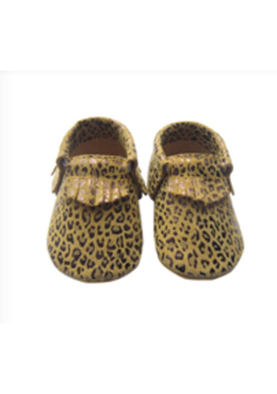 Baby  Leather Shoes - Animal Brown