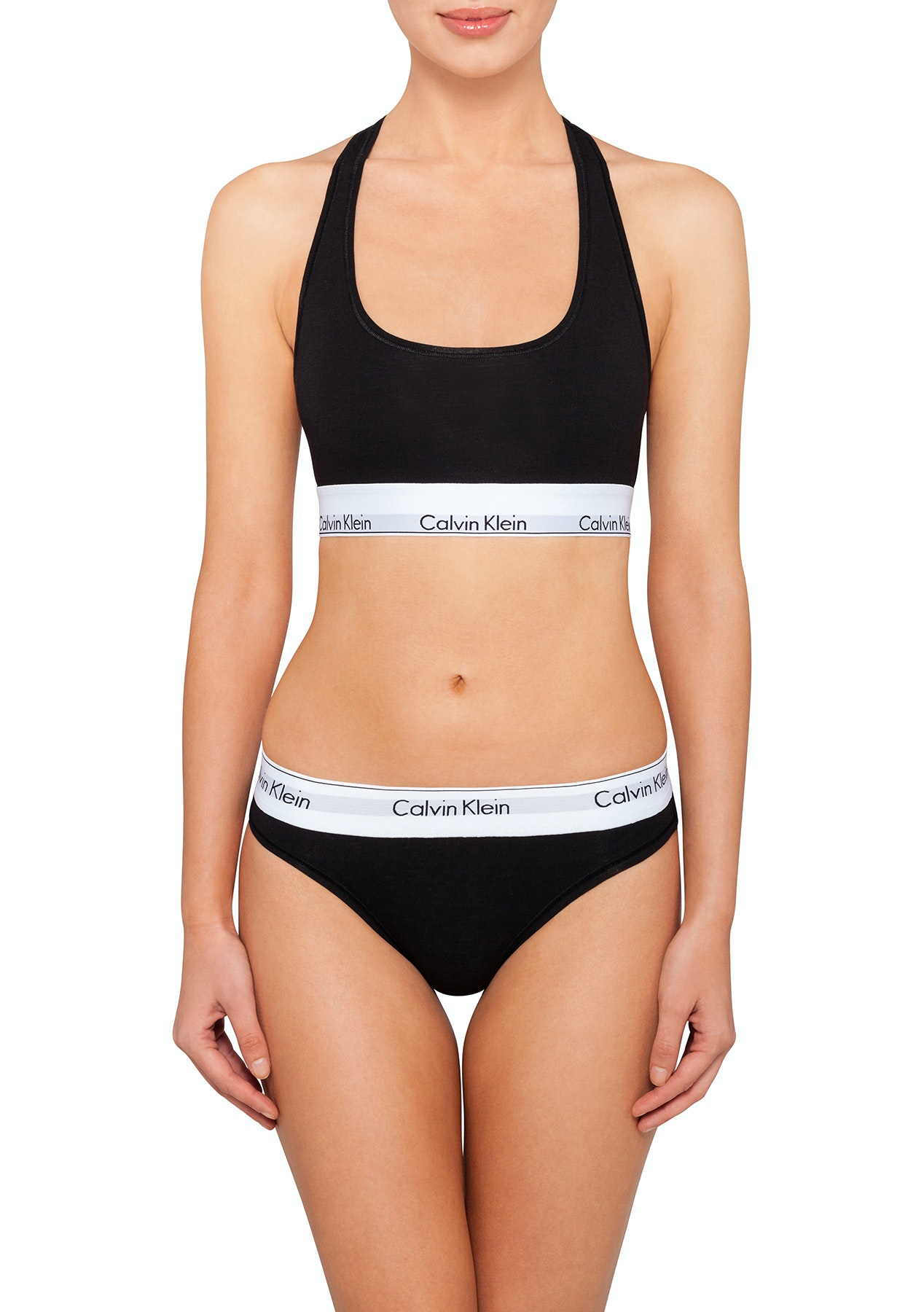 87618d93710 Calvin Klein - Modern Cotton Bralette & Bikini Set - Black - $59.95 CK Sets  & More - Onceit