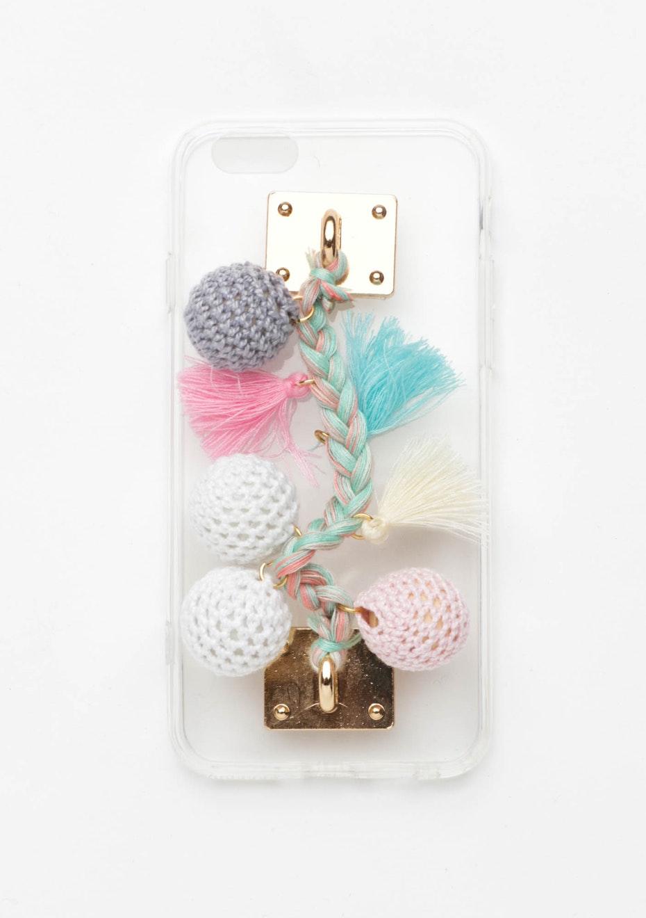 Crochet Pastel Pom Pom Case - Iphone 6
