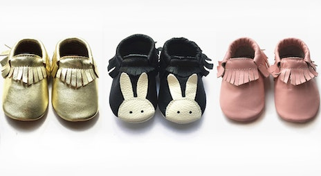 Image of the 'Kids Leather Moccasins' sale