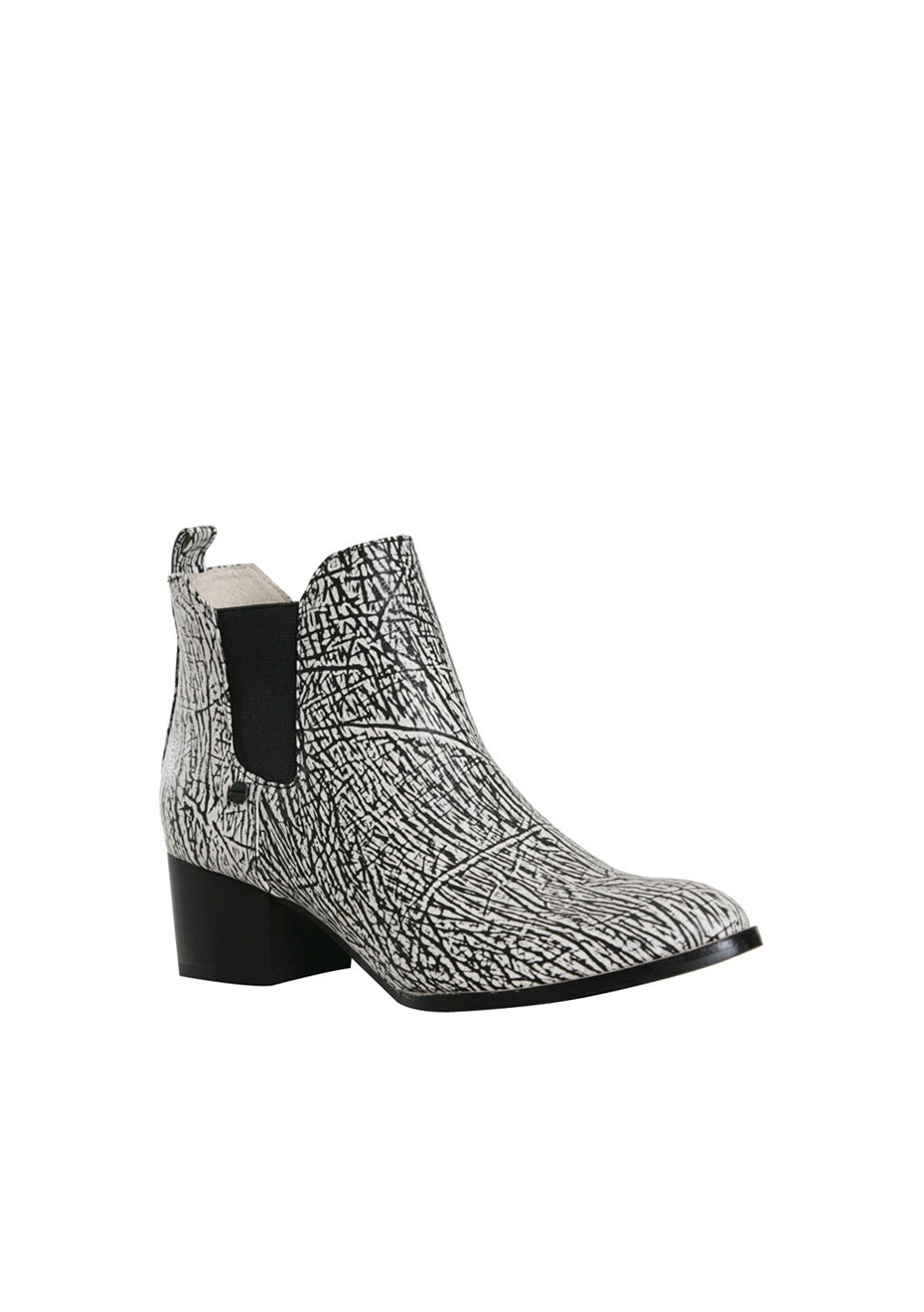 Chaos & Harmony Siege Ankle Chelsea Boot - Black/White