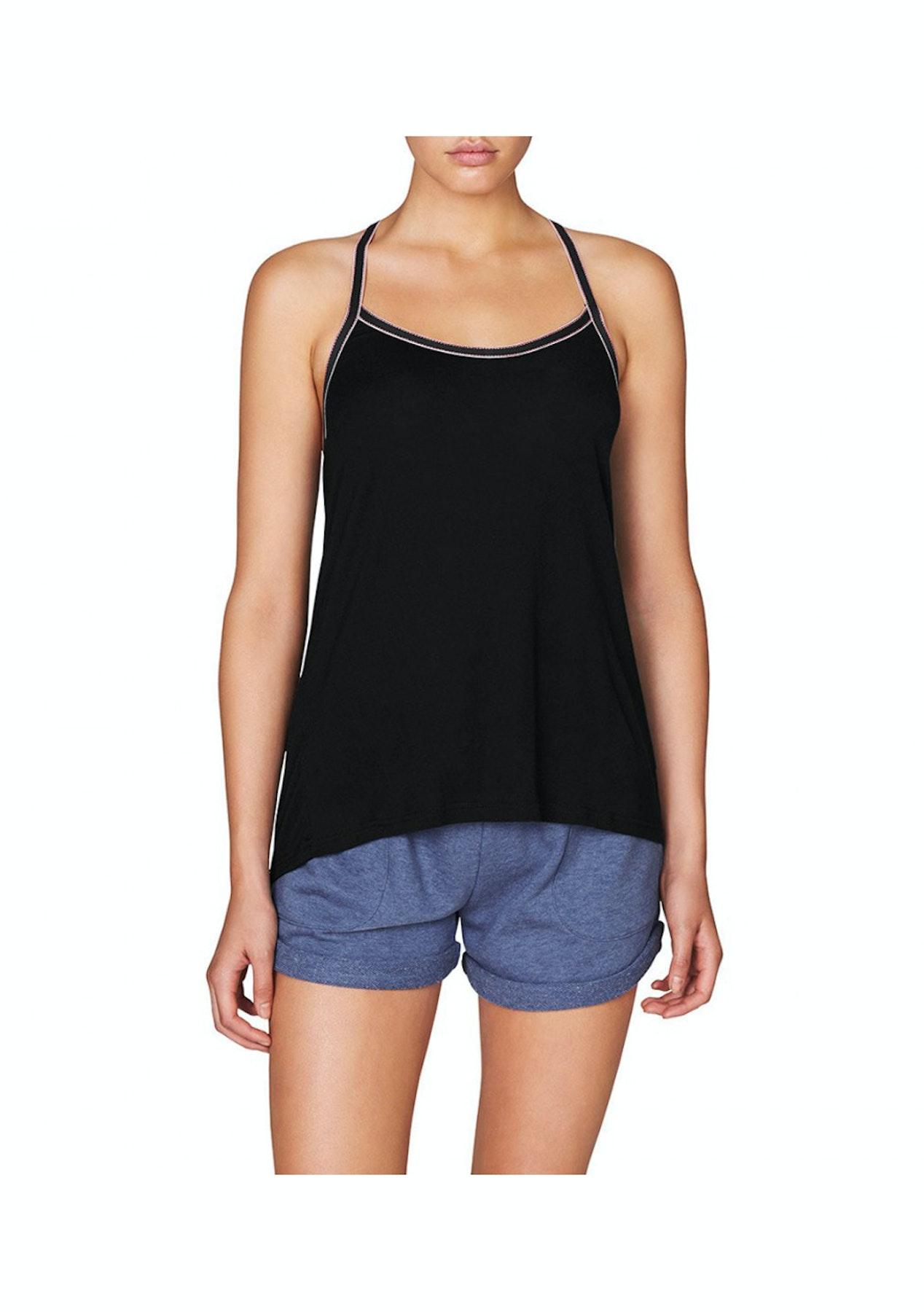 2fe3770e113eb Lovable Womens Sleepwear - Nautical Stripes Slvls Top Singlet - Black True  Nv White Rio Red - Big Brand Underwear   Loungewear - Onceit