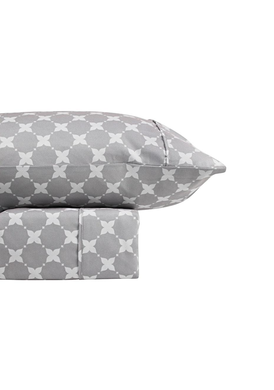 Thermal Flannel Sheet Sets - Aspen Design - Glacier - King Bed