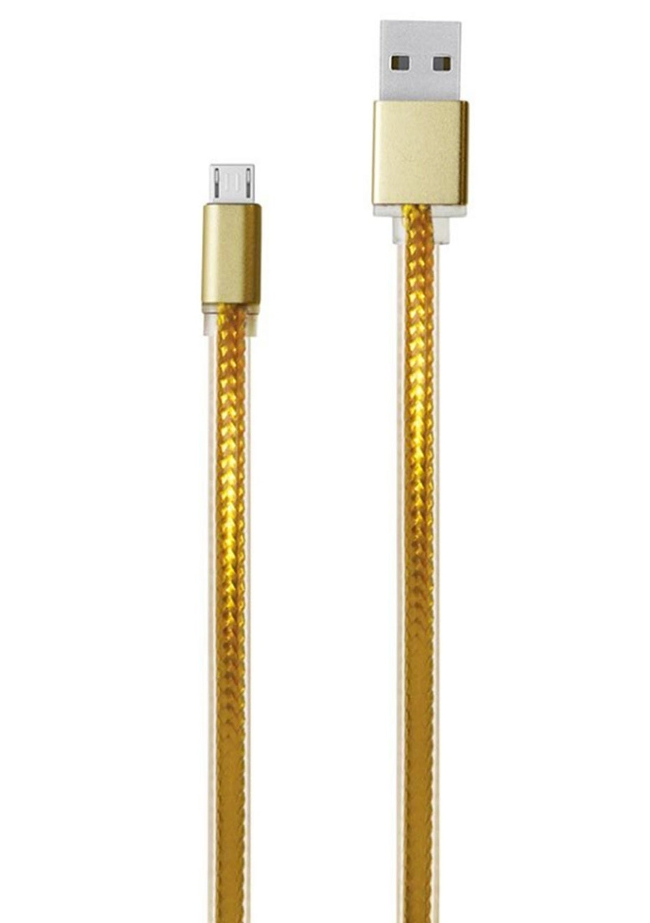Charged - 2m Metallic USB Charging Cable - Micro USB (Gold)