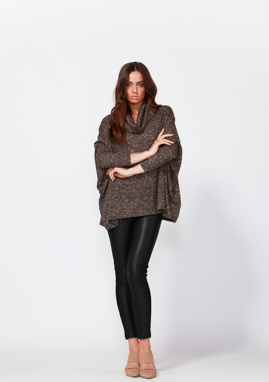 Fate - Adrina Leather Pant  - Black
