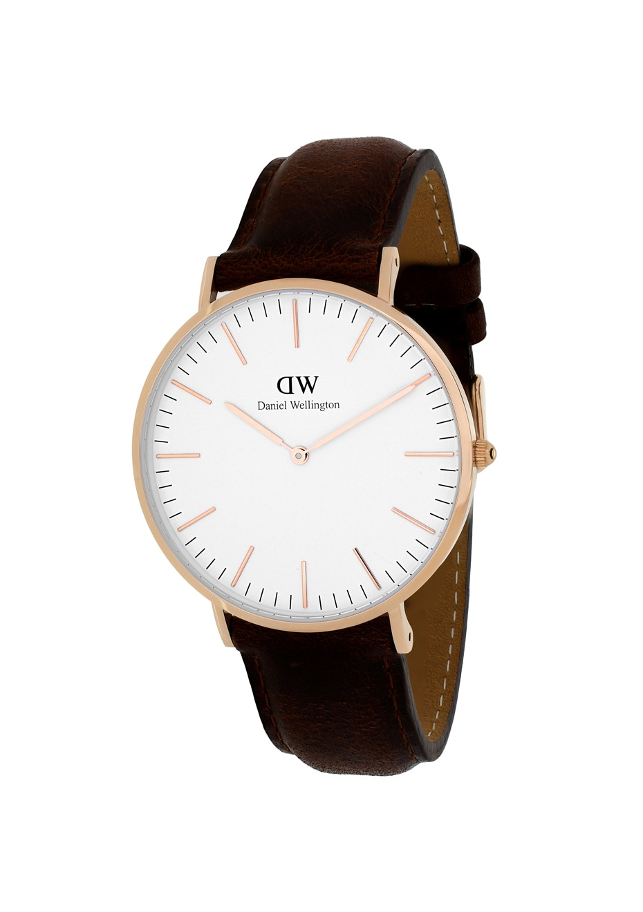 Daniel Wellington Women's Classic Bristol - White - Dark Brown