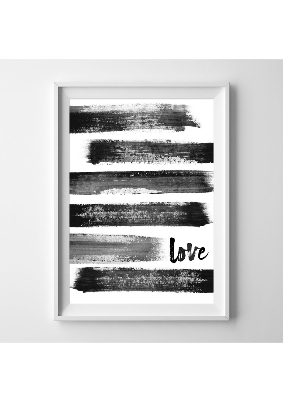 Simply Creative - Brushed Love  - A4 Colour Print