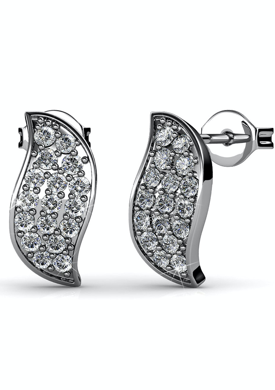 Iskandar Earrings Embellished with Crystals from Swarovski