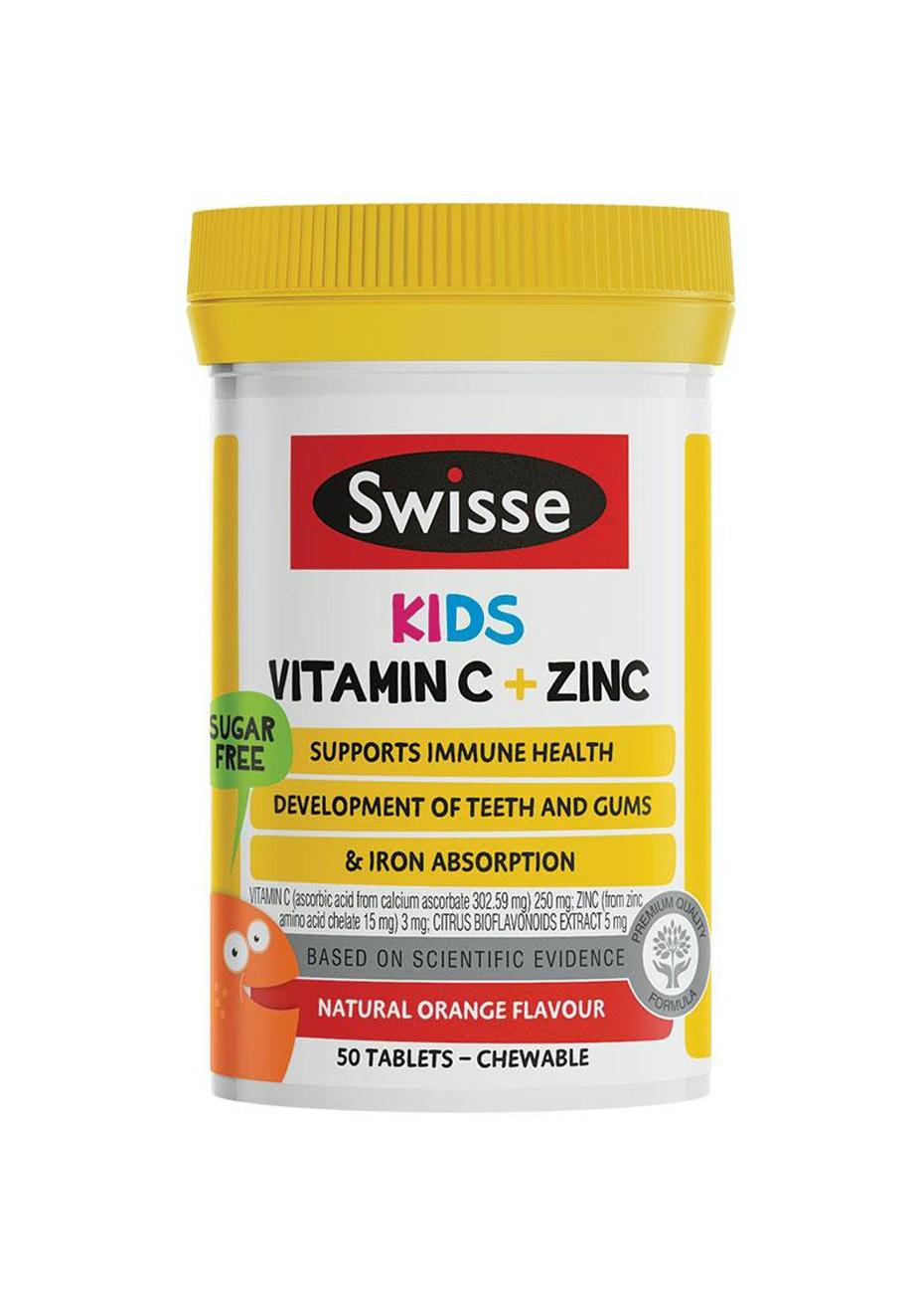 New! Swisse Kids Vitamin C & Zinc 50 Chewable Tablets