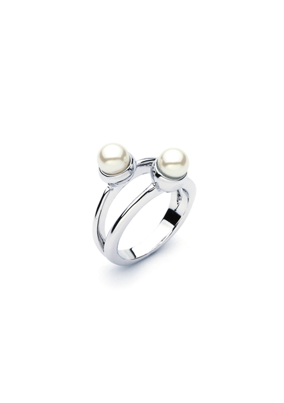 Crystal Pearl Dual Ring