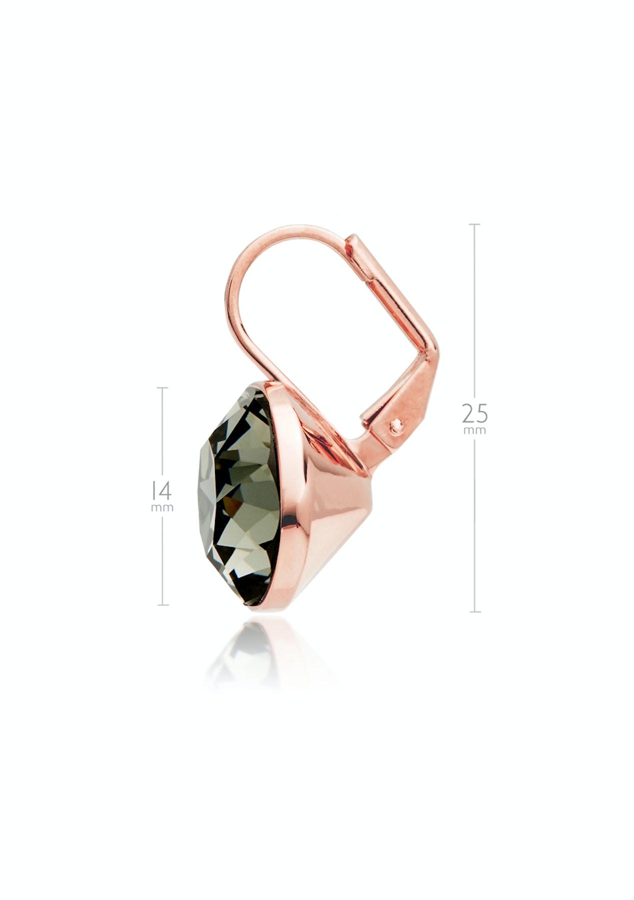 c93935961 Krystal Cotoure - Bella Earrings with 8.5 Carat Swarovski Black Diamond  Crystals Rose Gold Plated - My Jewellery Store Swarovski Elements Jewellery  Under ...