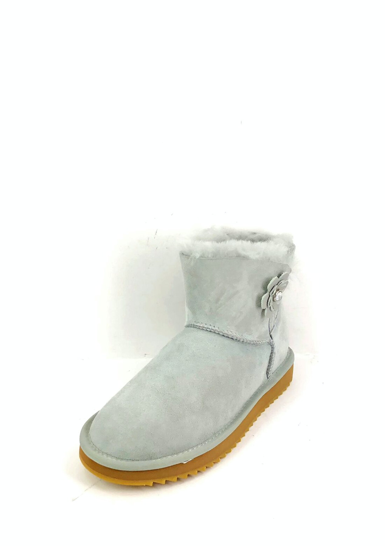 the best attitude 9adf1 1b04d Oz Natives UGG - Ultra Short with flower button Women - Grey