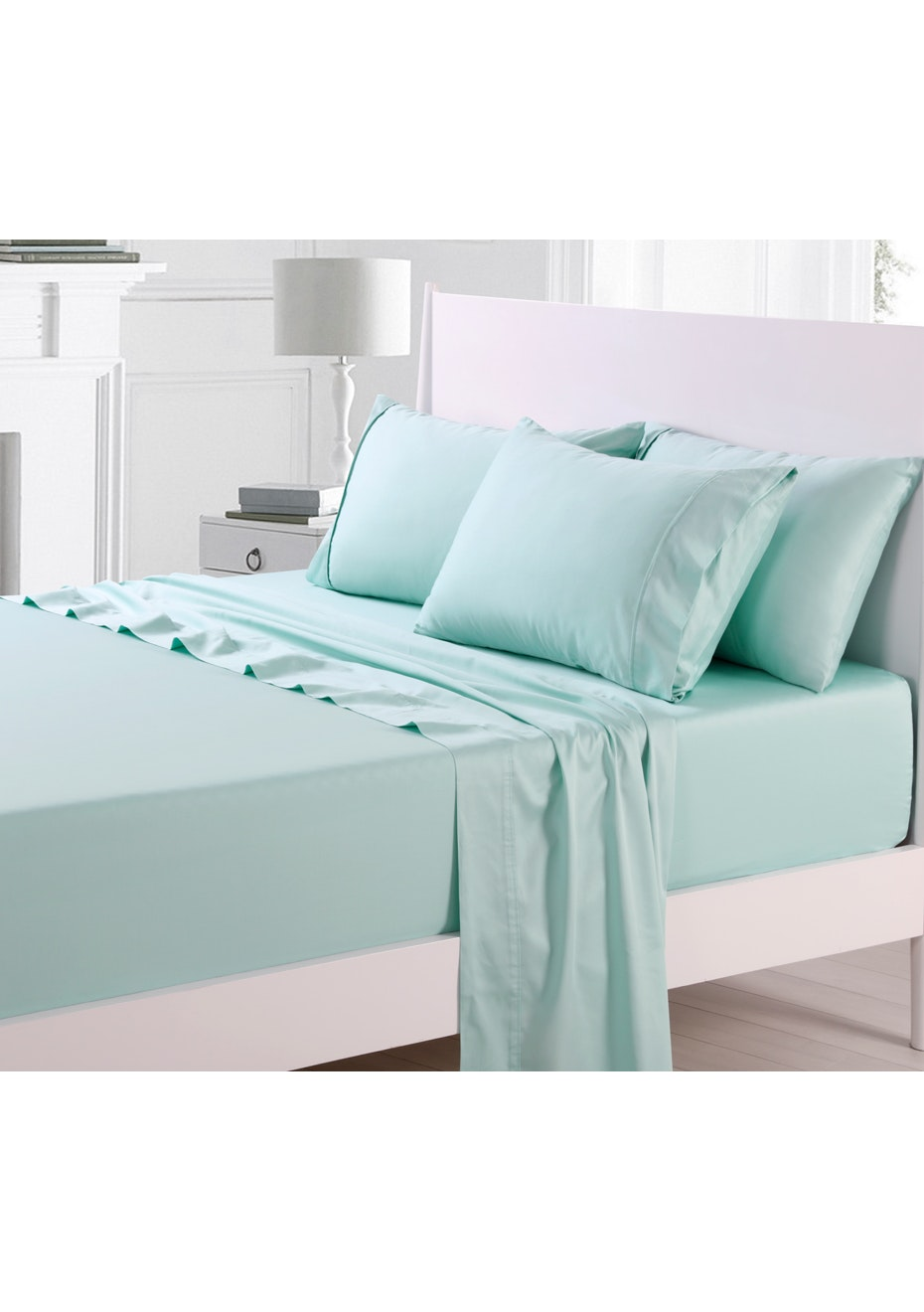 Duckegg 300TC Cotton Sateen Sheet Set - King Bed