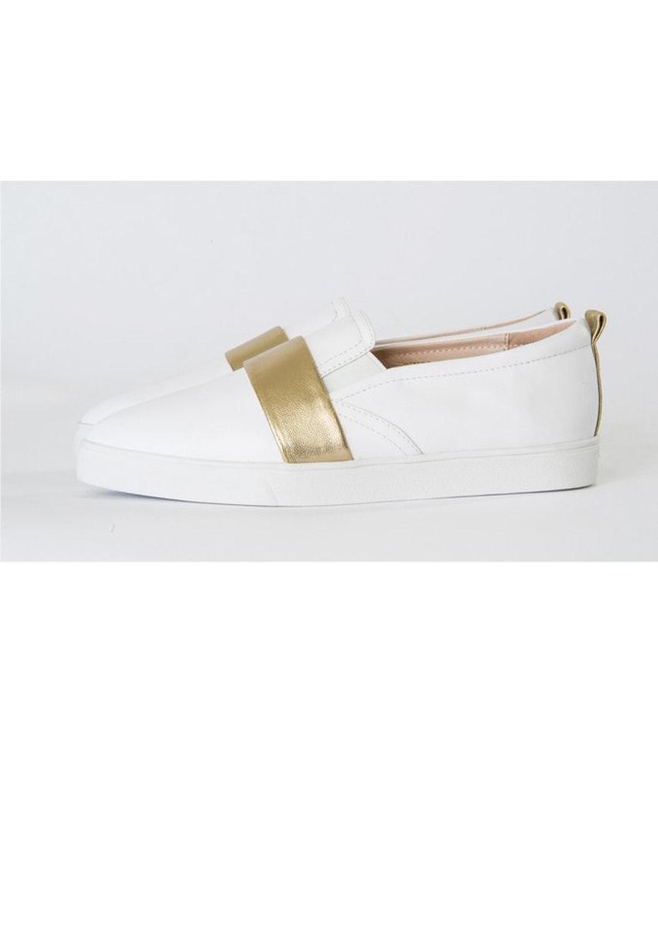 Julian Danger - Stella Sneaker - White & gold
