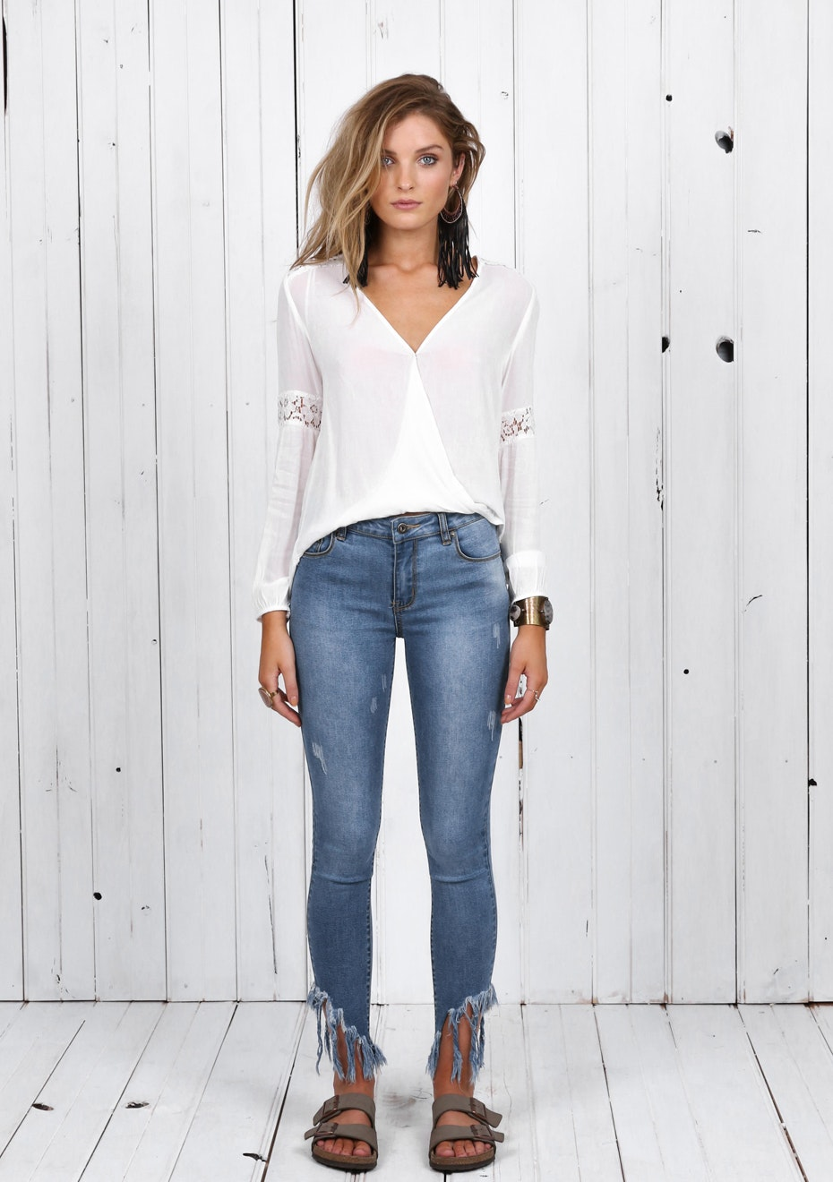 Madison - FOXY FRINGE JEANS - DENIM