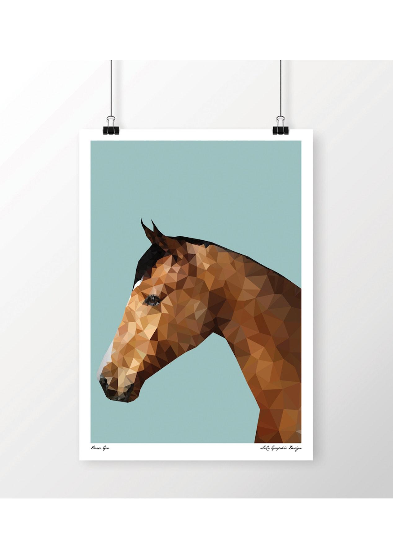 c08564cd144 LoCo - Horse Geo print A3 - Prints You ll Love - Onceit