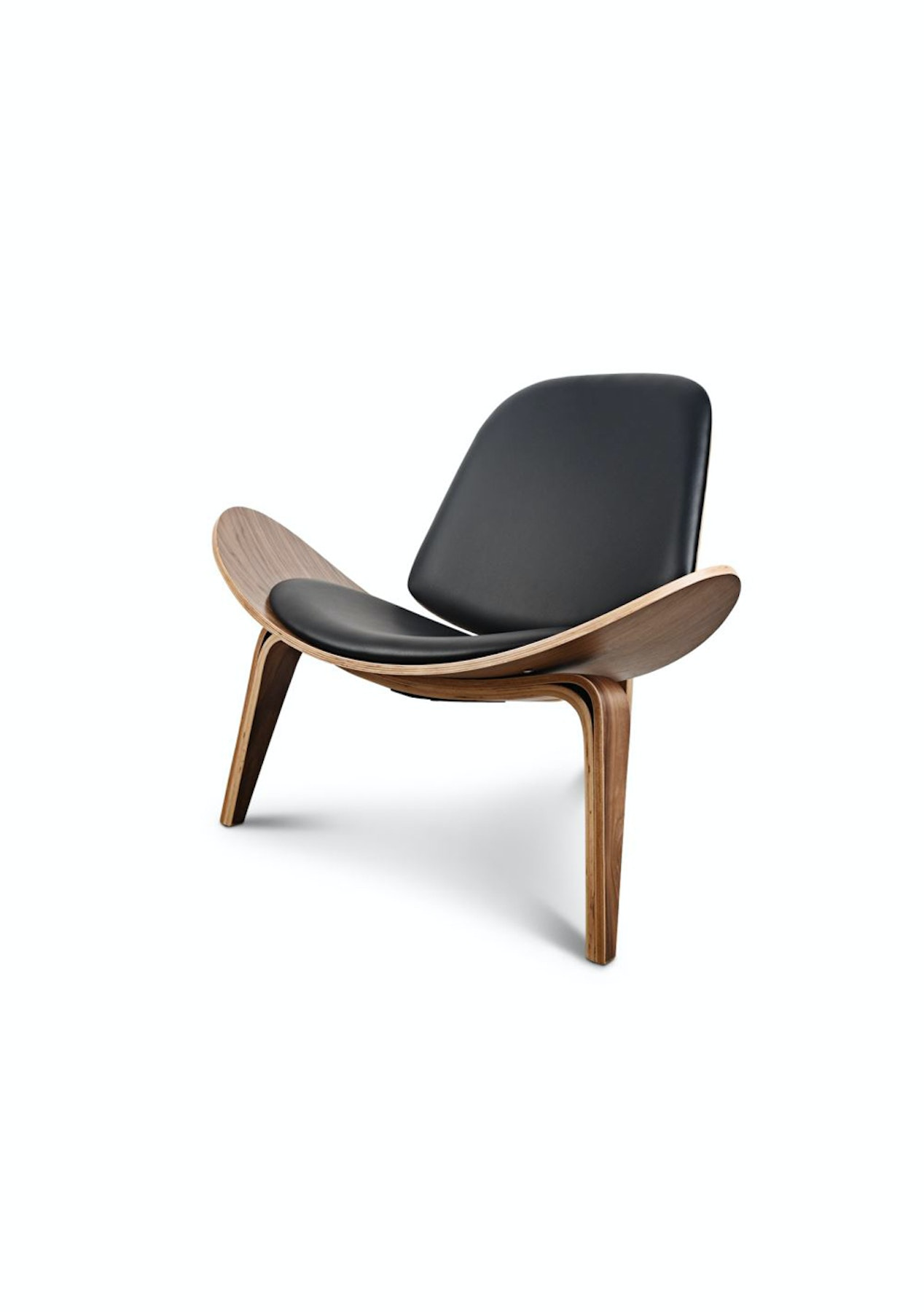 Replica designer shell occasional chair black big for Reproduction designer furniture