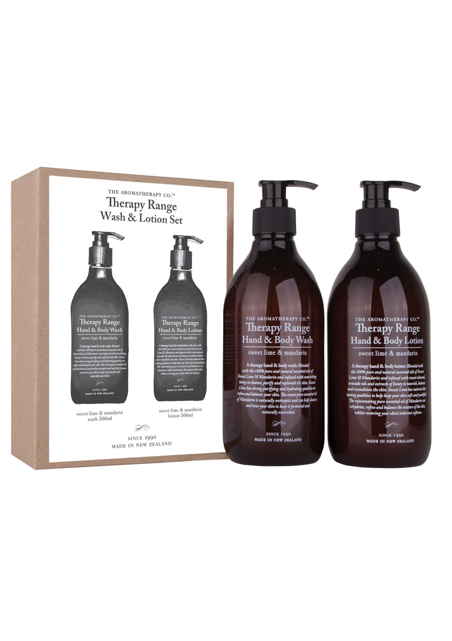The Aromatherapy Co.  Therapy Range Pump Pack Set  - Sweet Lime & Mandarin
