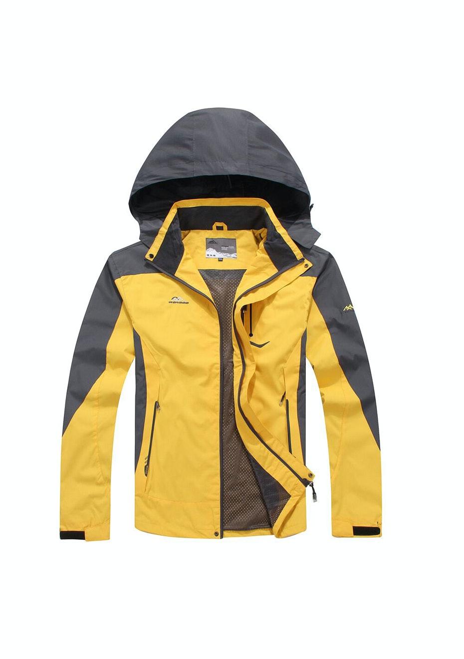 Men 2-in-1 WaterProof Jackets - Yellow