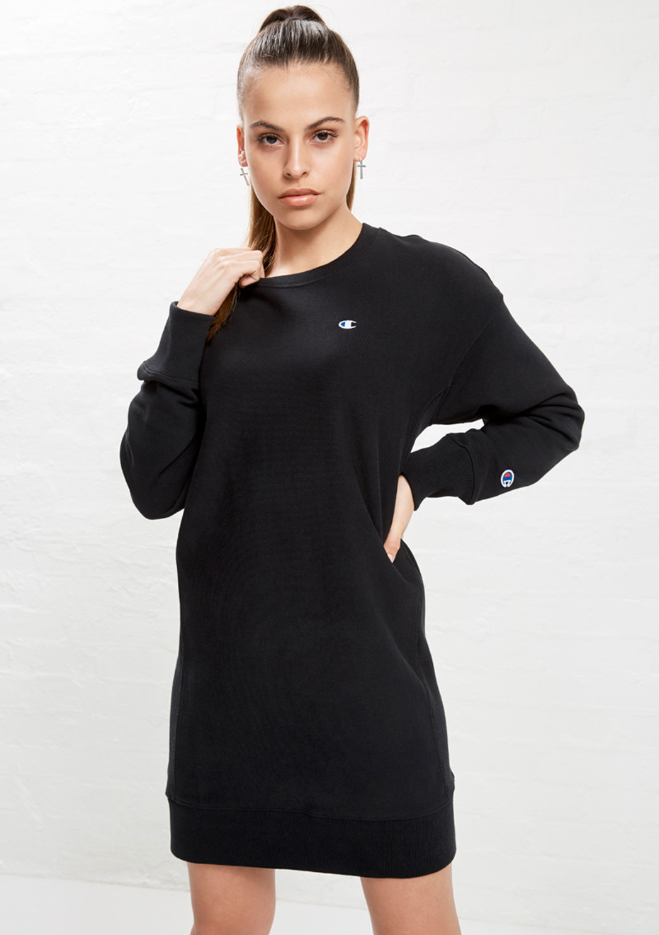 Sweatshirt Black Champion New Dress rCexdBo