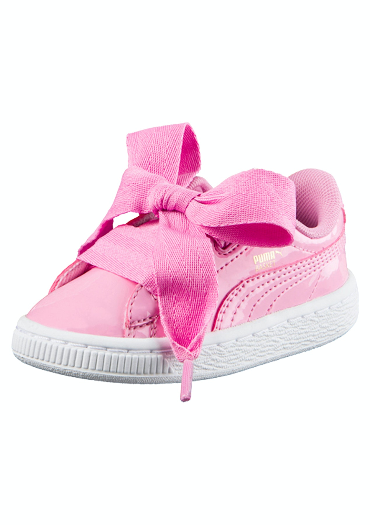 new style a027d bf5e2 Puma Infant - Basket Heart Patent - Pink