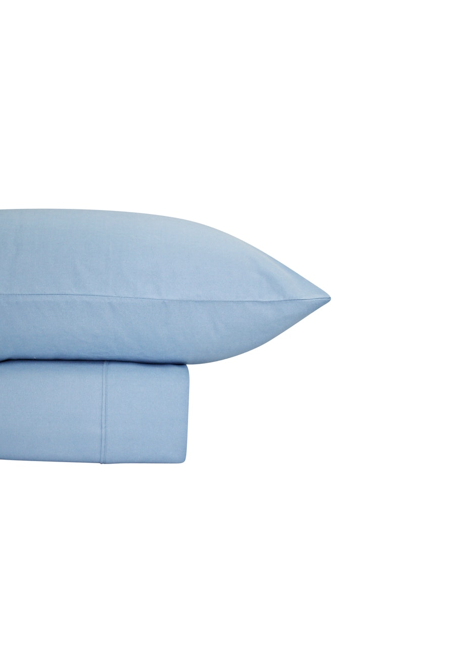 Thermal Flannel Sheet Sets - Bay Blue - Double Bed