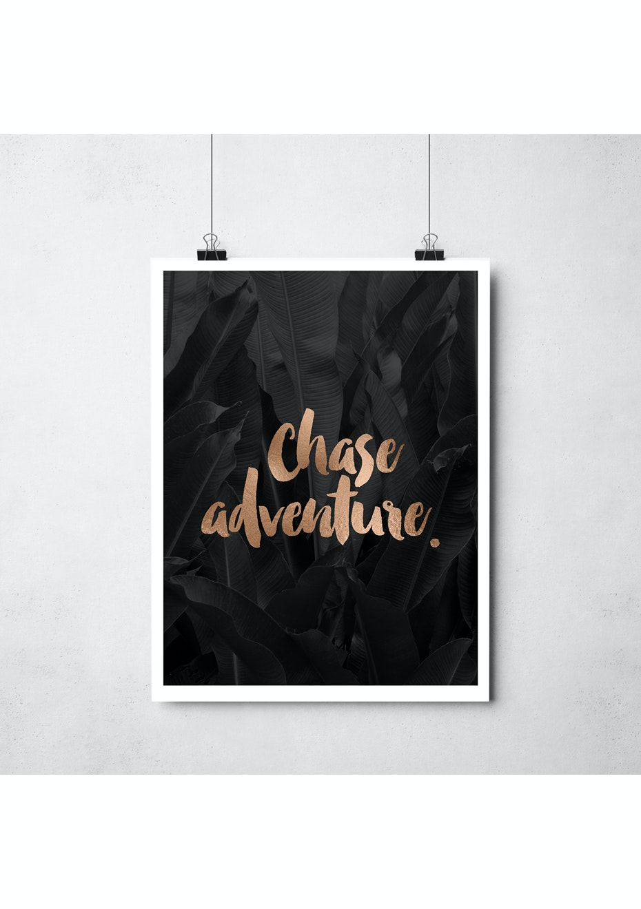 Simply Creative - Chase Adventure - A3 Copper Foil Print