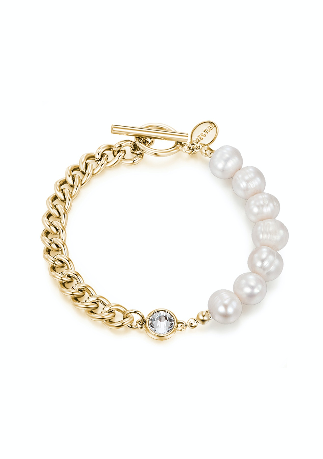 f05131f0e Golden Nissi Bracelet with Crystals from Swarovski - Mestige Swarovski  Elements - Onceit