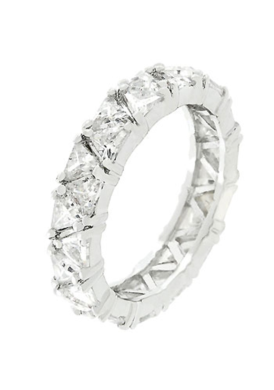 Exquisite Eternity Band w White Gold
