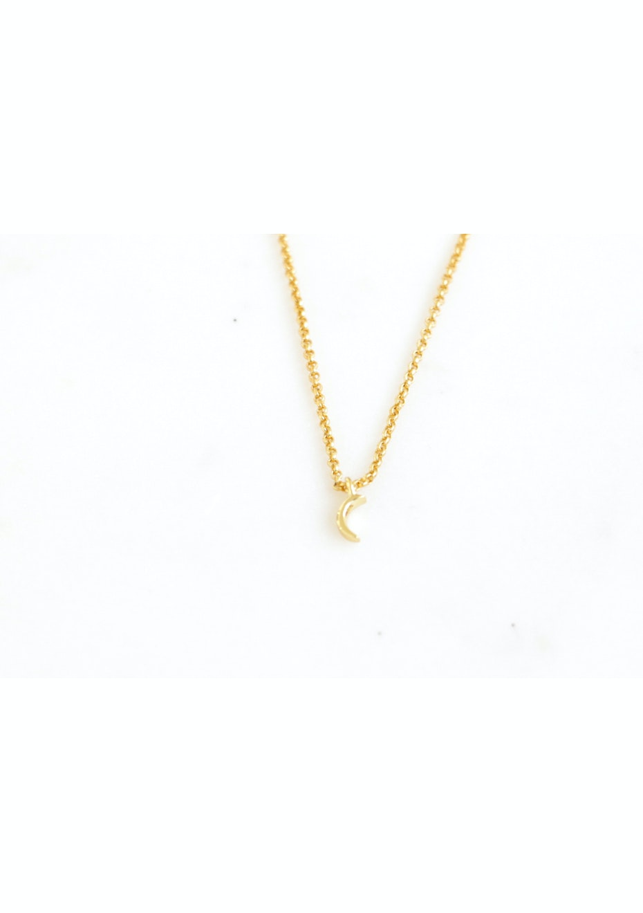 Moon Necklace  - Gold Plated