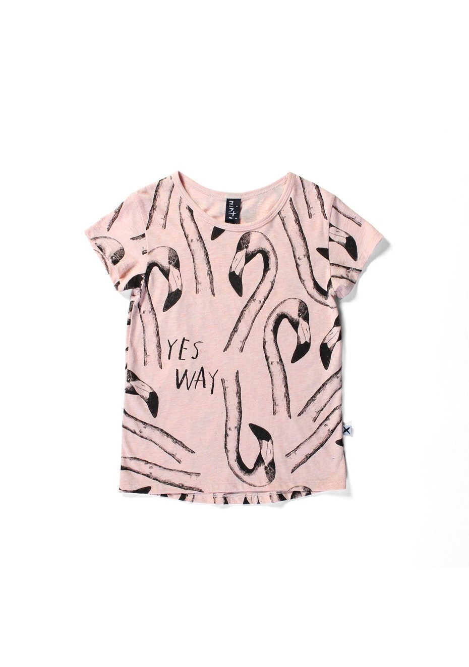 Minti - Flamingos -  Tee - Girls - Pink Marle