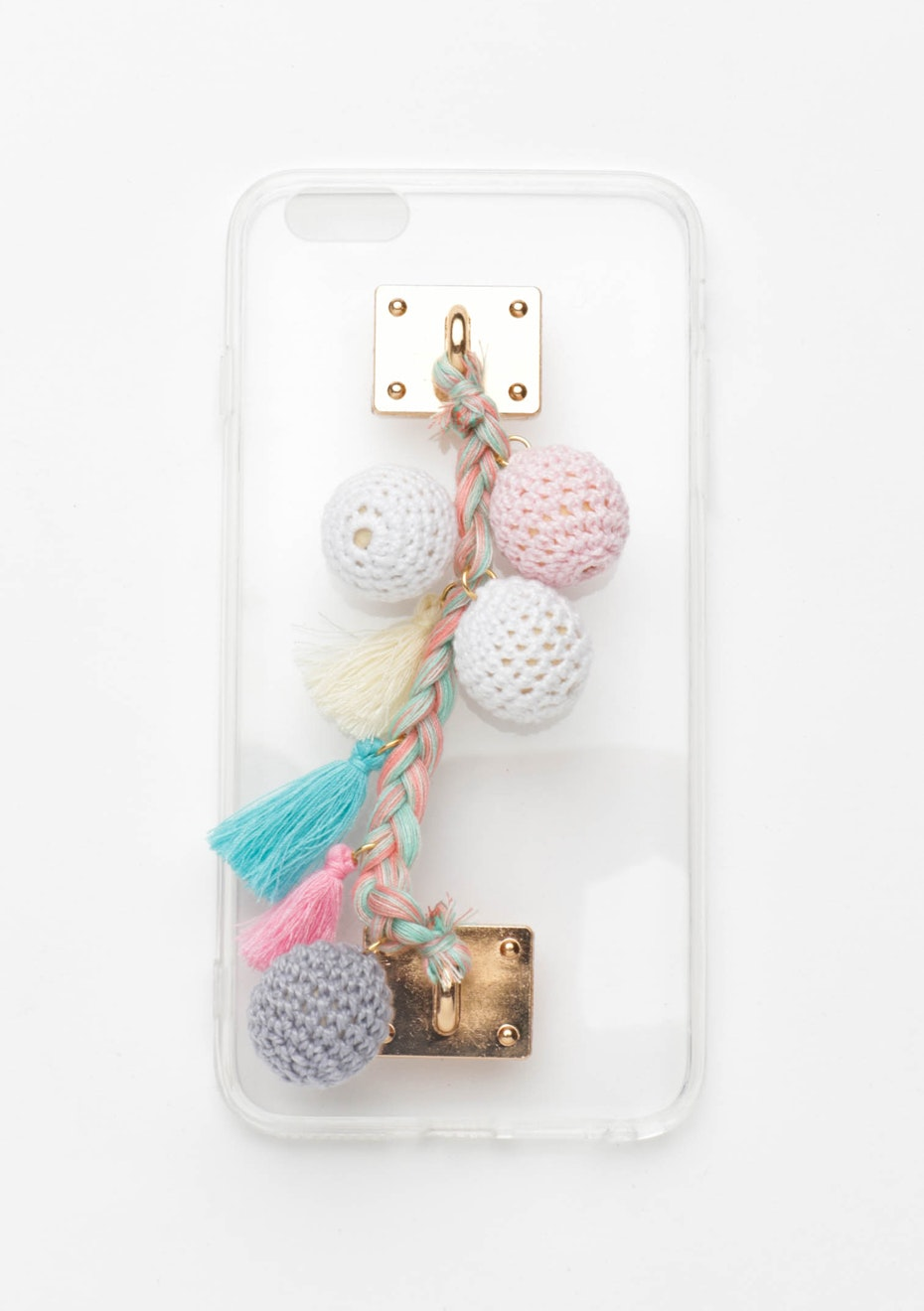 Crochet Pastel Pom Pom Case - Iphone 7
