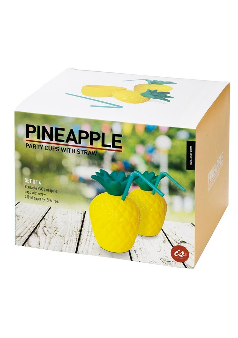 Pineapple Party Cups - Set of 4