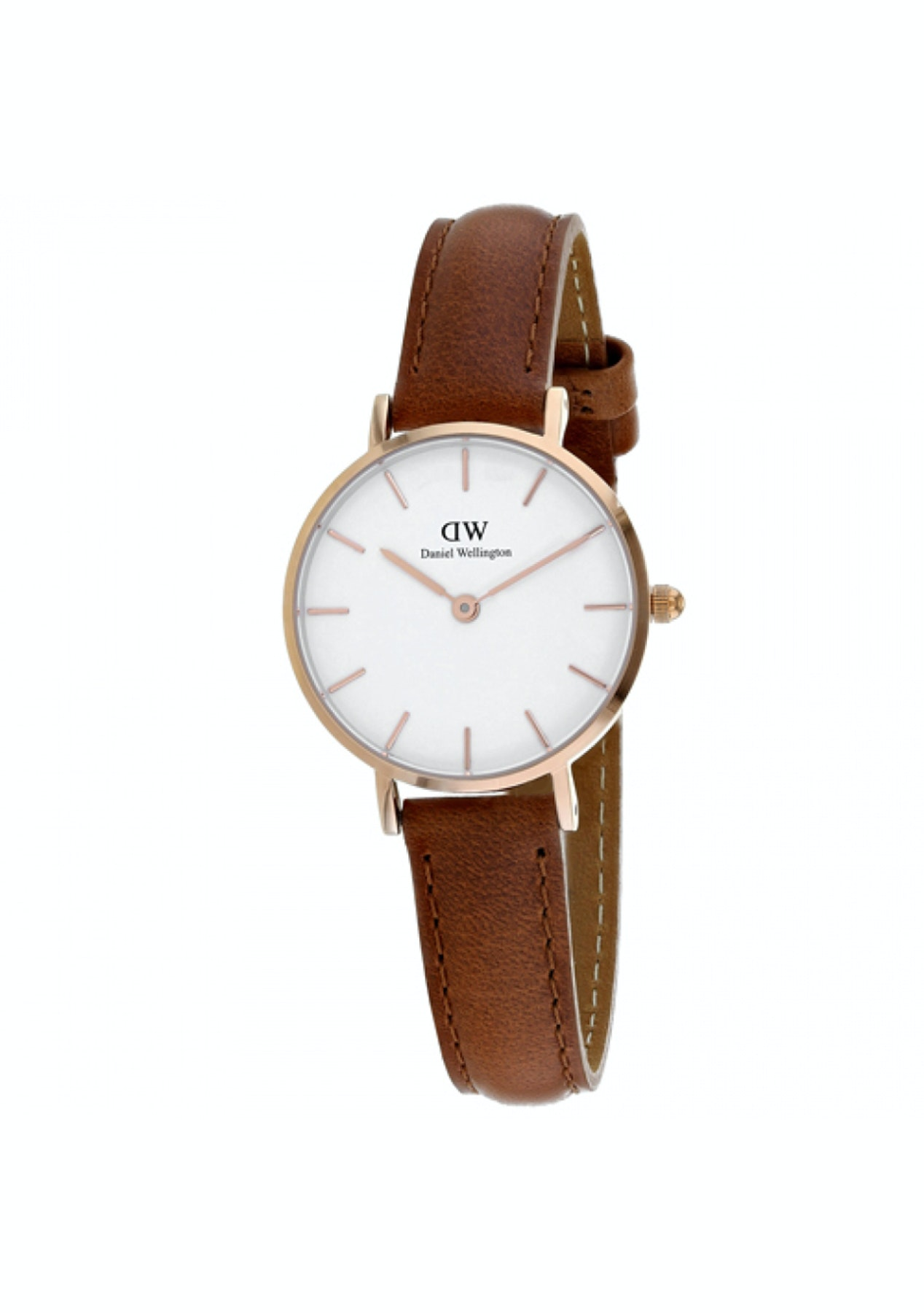 084824cdbd5d Daniel Wellington Classic Petite Durham 28mm - White Brown - Free Shipping  Jewellery + Watches - Onceit