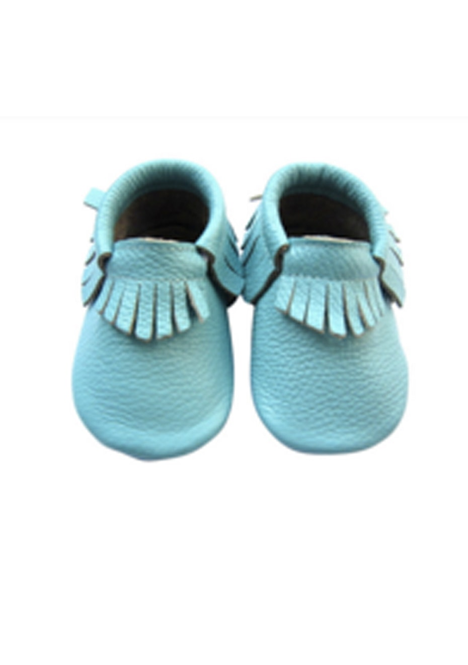 Baby  Leather Shoes - Turquoise