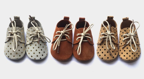 Image of the 'Kids Leather Moccasins Pre-sale' sale