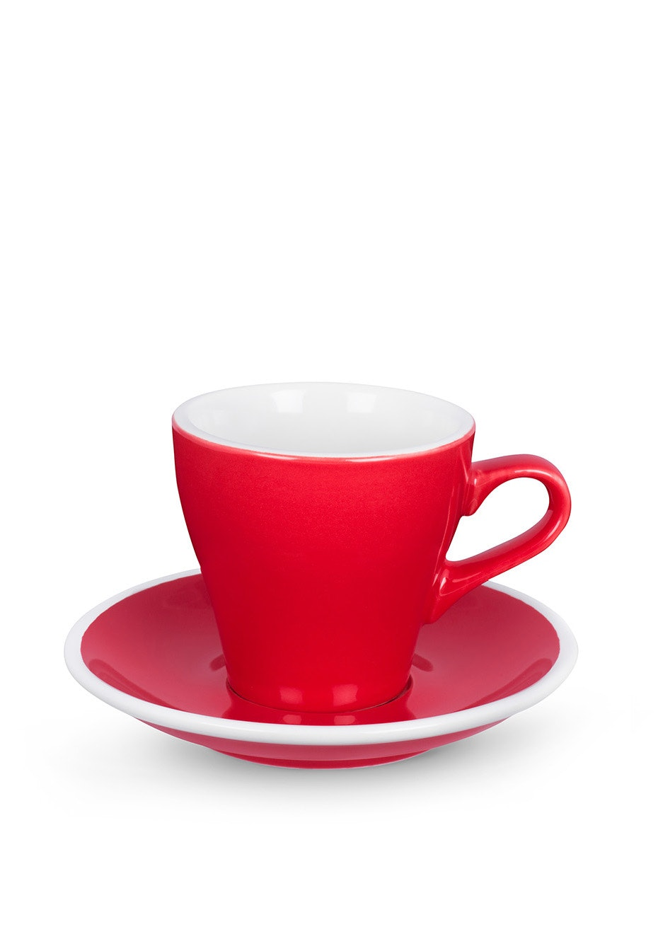 ACME Pack of 6 - Tulip Cup & Saucer 170ml - Red