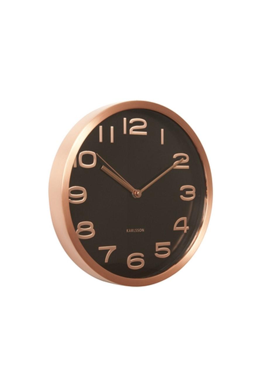 Karlsson - Wall Clock 'Maxie' - Copper/Black