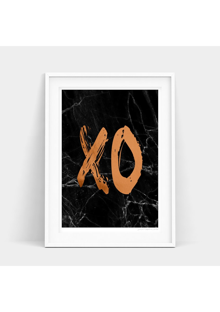 Simply Creative - Dark Copper Xo - A3 Copper Foil Print