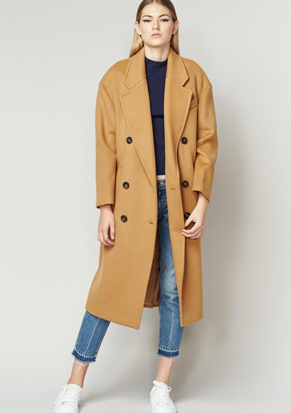 Achro - Long Wool Coat - Camel