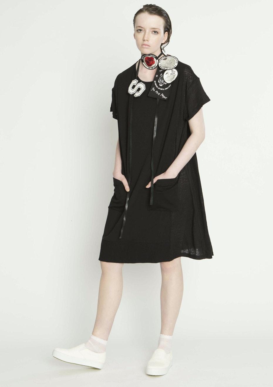Salasai - ODDMENTS SWEAT DRESS - BLACK