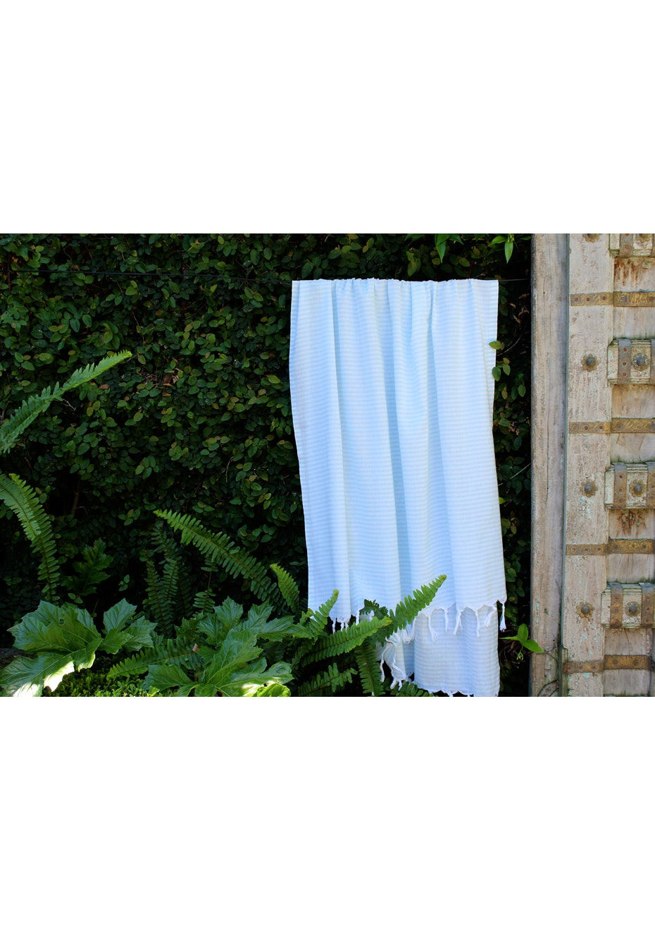 Fresh Mint Stripe Turkish Towel