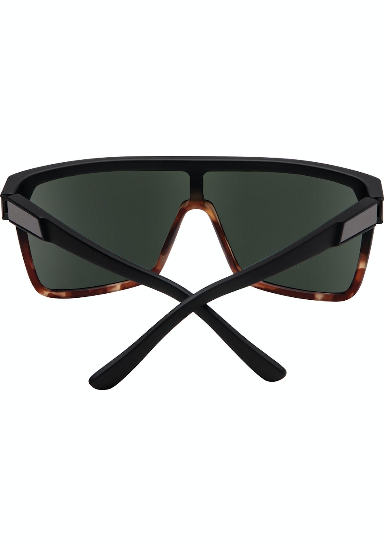 4d71fad4febd SPY Flynn Sunglasses - Soft Matte Black Tort Fade- Happy Grey Green - Quay  Eyewear   More - Onceit