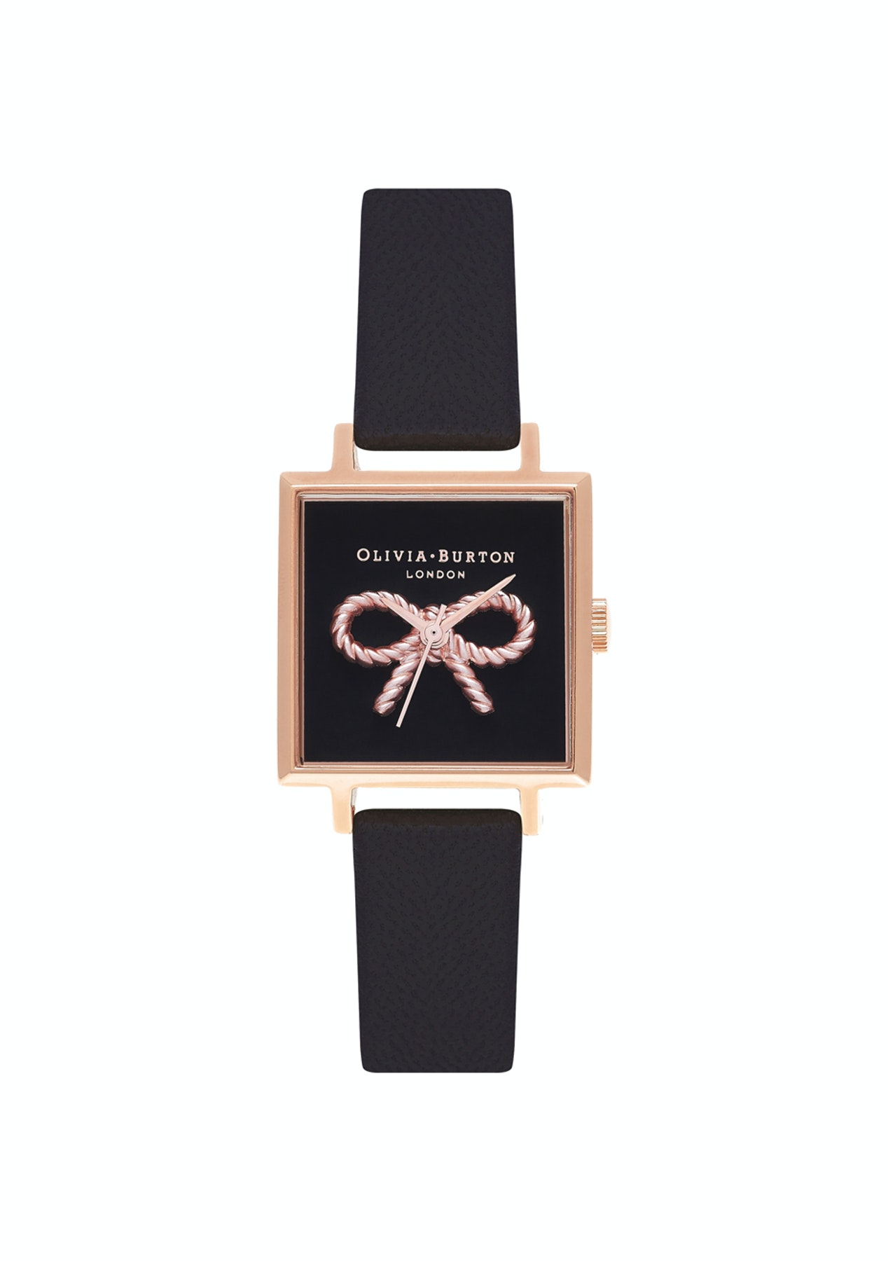 fc73df38f38 Olivia Burton Vintage Bow Collection Rose Gold Case Black Strap - Olivia  Burton Watches up to 55% Off - Onceit