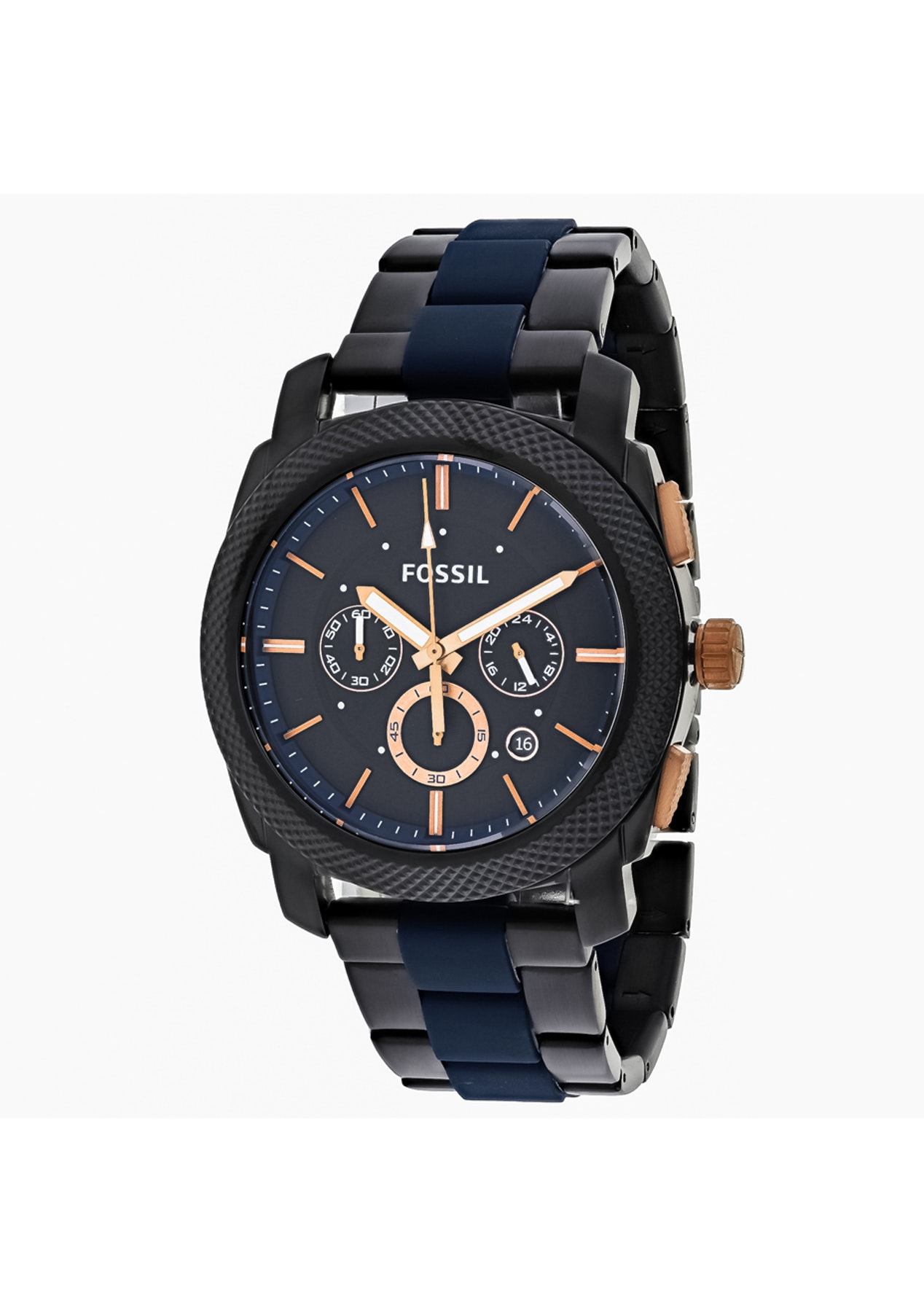 b49c78667 Fossil Mens Machine - Black/Two-tone Black - Timex & More - Designer Watches  - Onceit