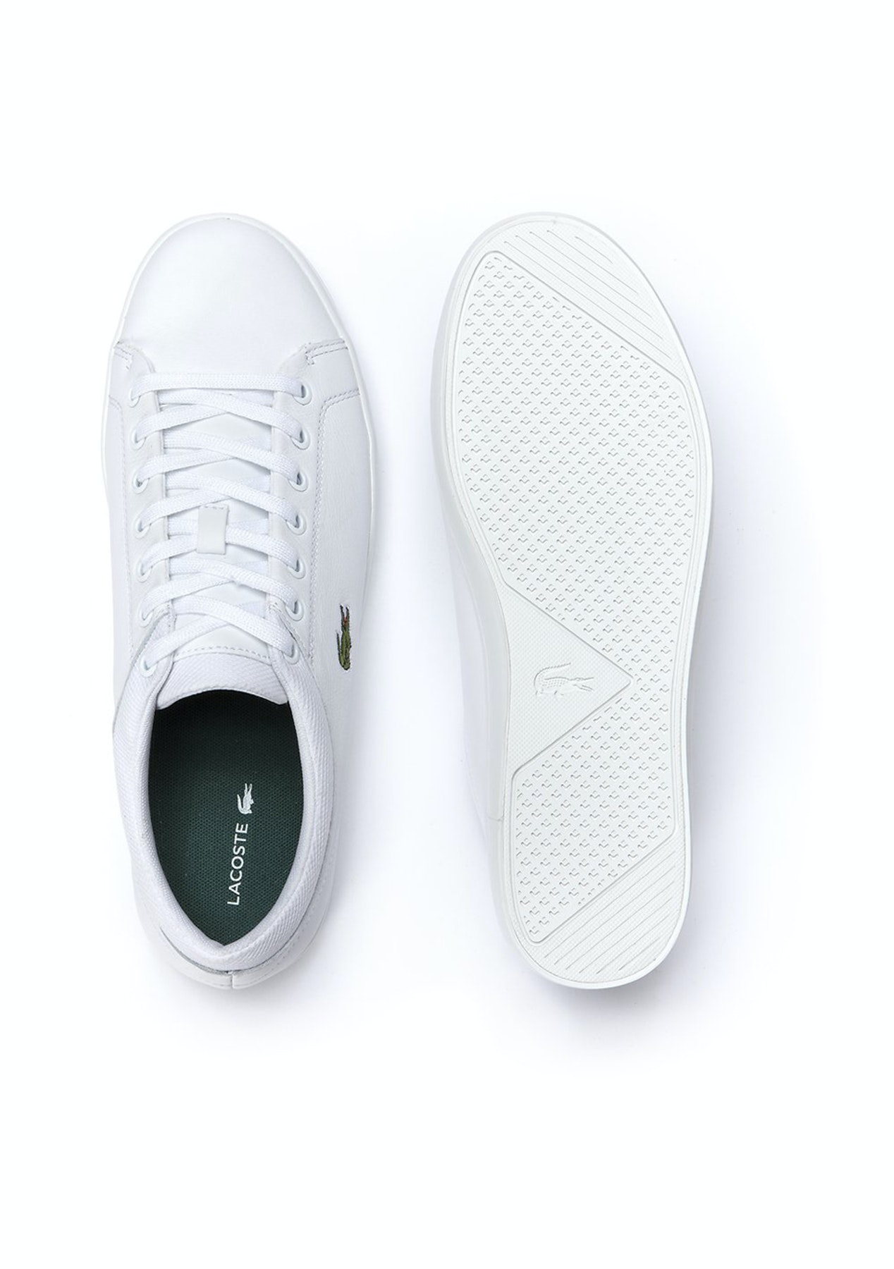 ed2bf35904f8b Mens Lacoste - Straightset Spt 1161 Spm - White - Stylish Gifts for Dad -  Onceit