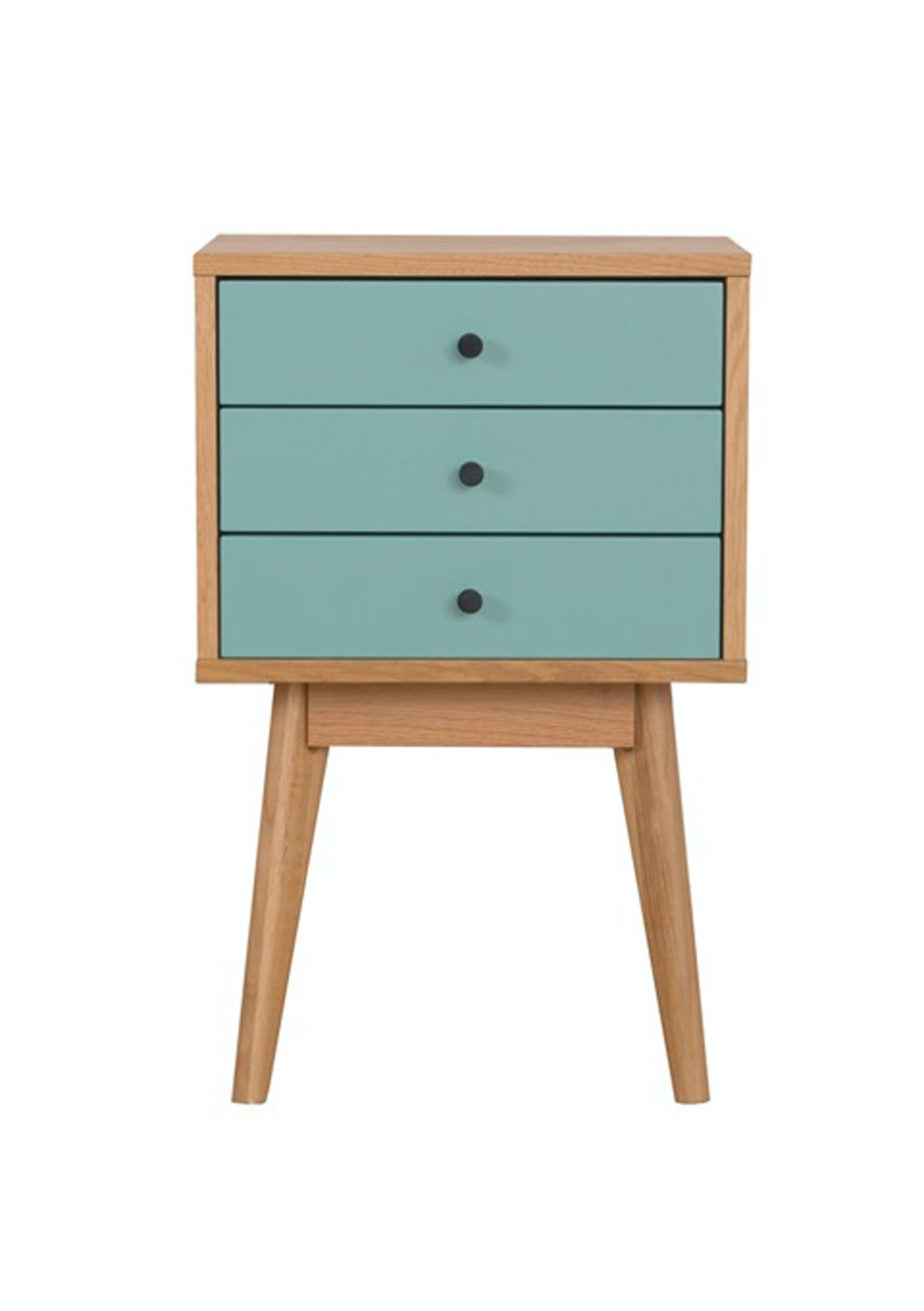 Furniture By Design - Radius 3 Tower- Turquoise and Oak