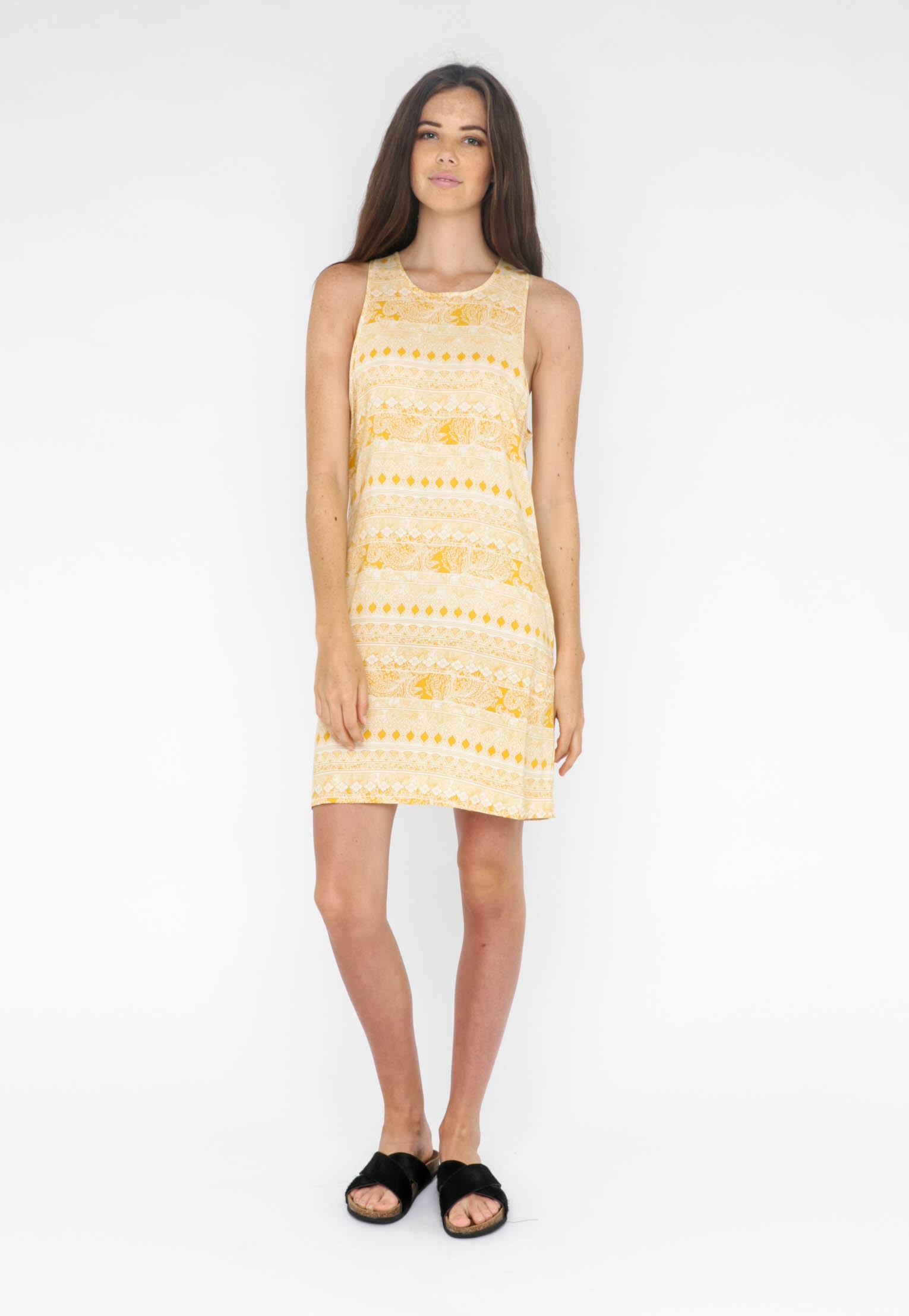 All About Eve  - Good Vibes Dress - Yellow Print