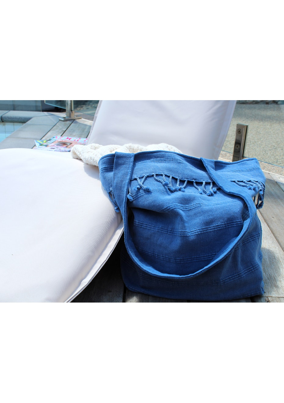 Adore Royal Blue Beach Bag