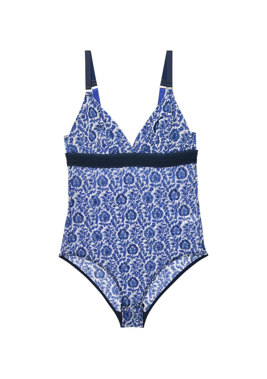 Stella McCartney - Florence Fluttering Bodysuit  - Woodblock Print